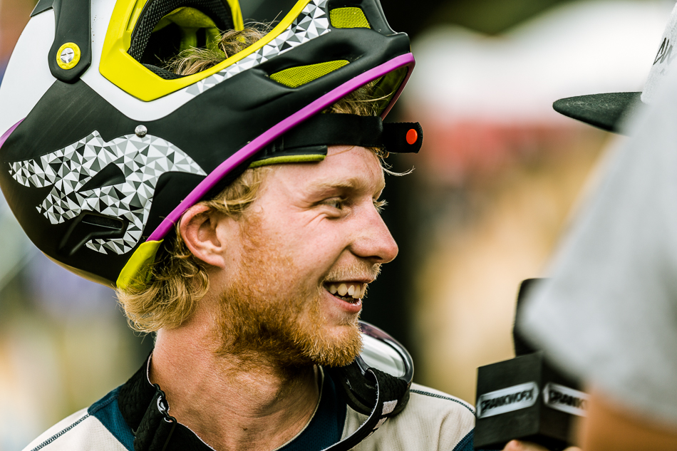 After placing third in each of Crankworx Rotorua's first two events, Kerr has plenty to smile about.