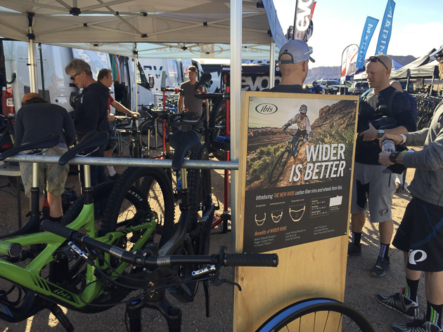Ibis booth Outerbike Moab