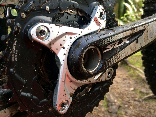 """We opted for the """"S"""" build kit, which features Shimano SLX cranks, shifters and brakes paired with XT front and rear derailleurs. On a side note, do you remember when SLX was kinda dumpy, ugly-sister stuff? Jeez...SLX went and got all grown up."""