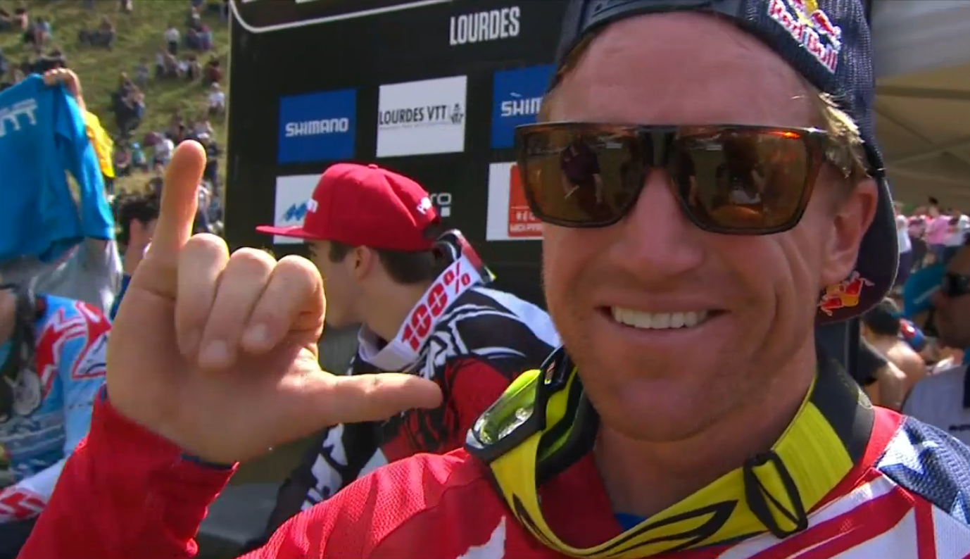 Aaron Gwin's Winning Run at Lourdes