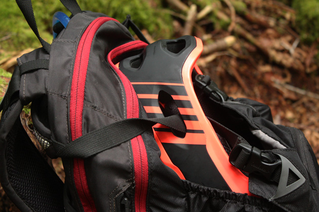 Big bonus: not having to tote a complete full-face helmet around on long climbs. The Super 2R's chin bar takes up relatively little room on the back of even smaller hydration packs.