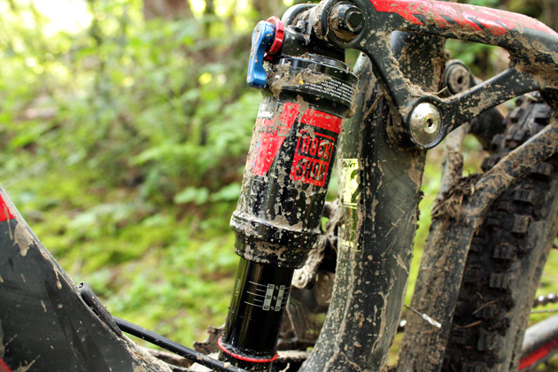 Our test model sports a Monarch RT shock--your basic rebound plus three compression settings-affair. That's the only thing that sets this frame apart from the top tier model. In short, this bike is a hell of a good deal.