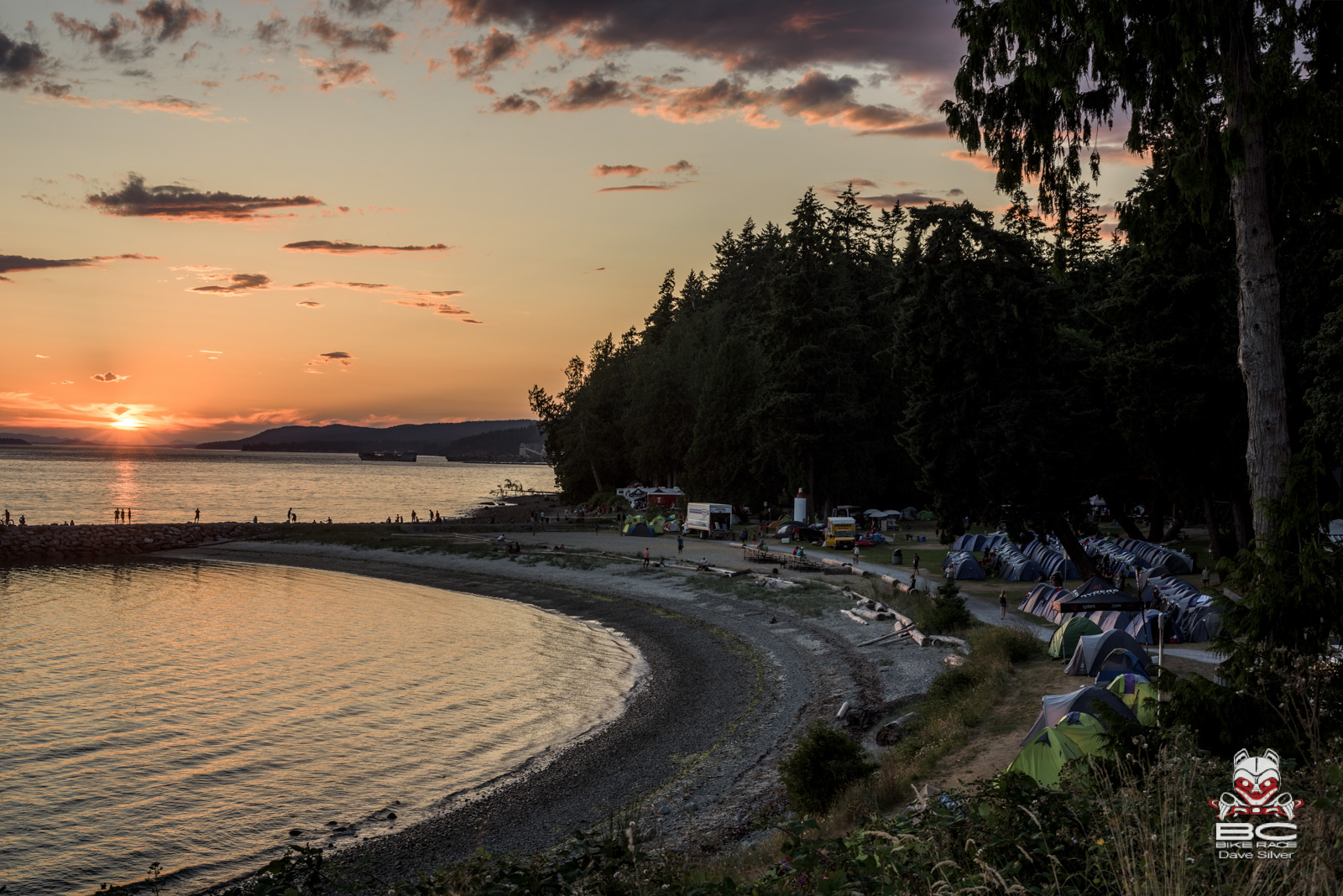 This sunset is why the BCBR team decided that a two day stay was justified in Powell River. Photo: Dave Silver