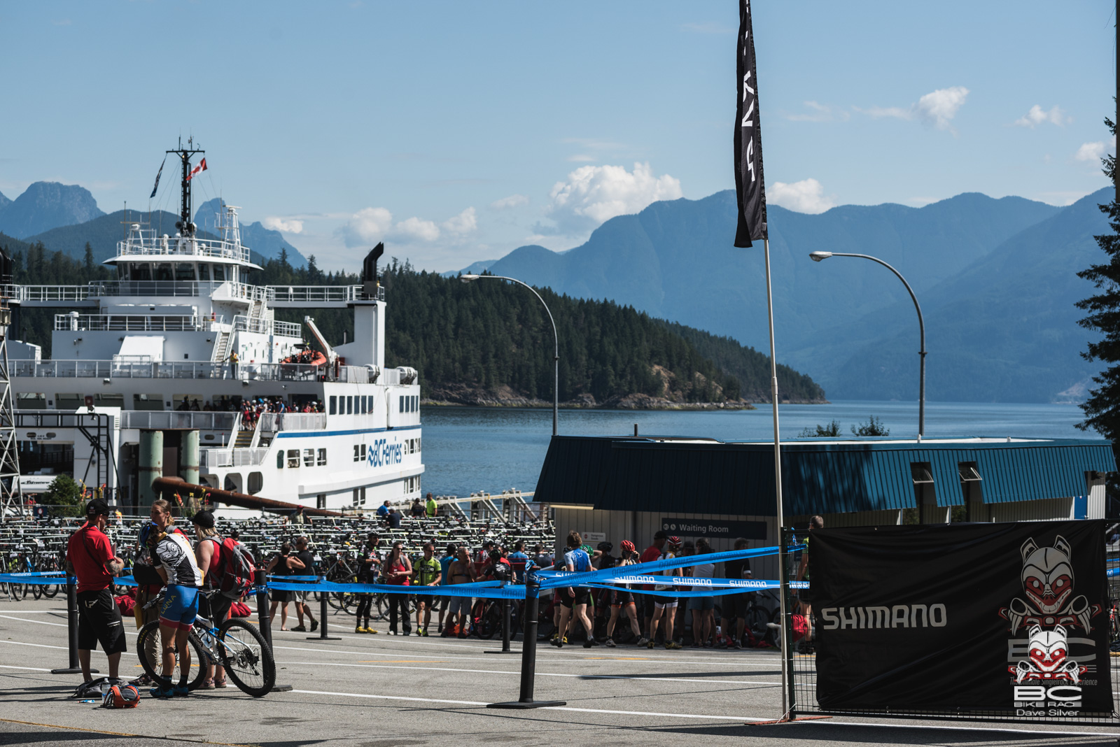 The Earls Cove ferry terminal hosted the start of Day 3. Photo: Dave Silver