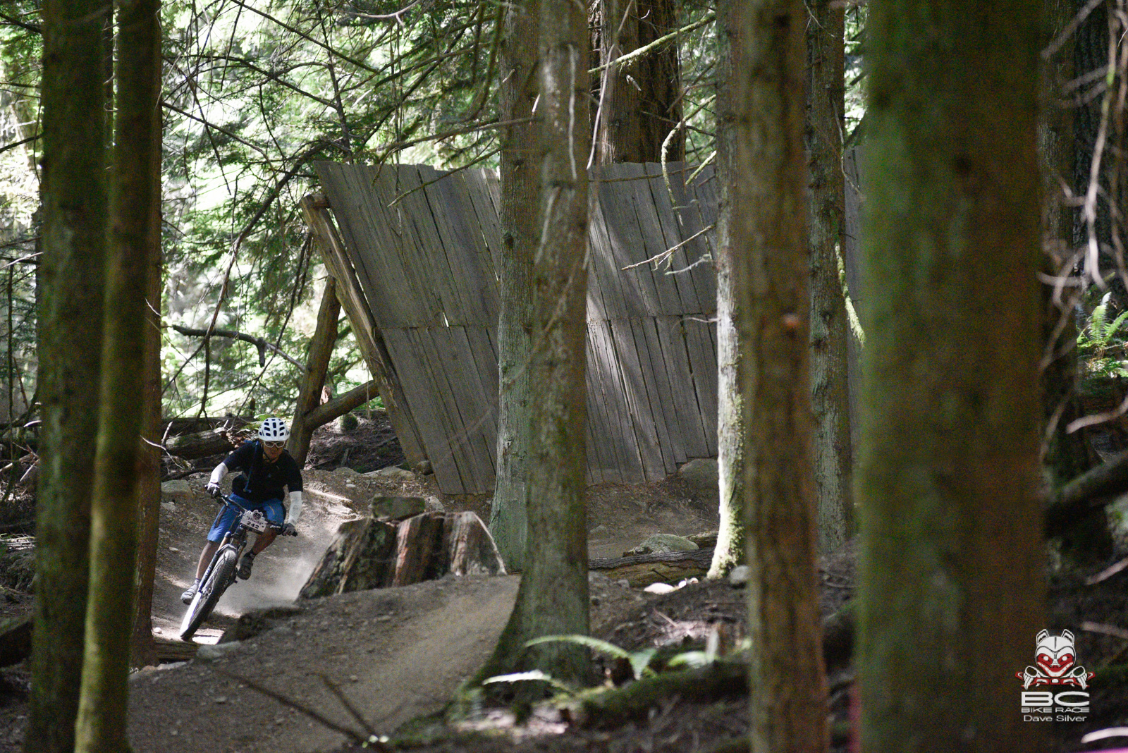 Stage 4 goes right through the Sprockids Bike Park. Yutaka Taniyama of Shimano gets on the gas. Photo: Dave Silver