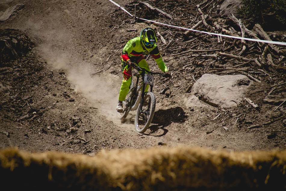 Cody Johnson gives it the gas for one of the flatter sections near the bottom of the track.