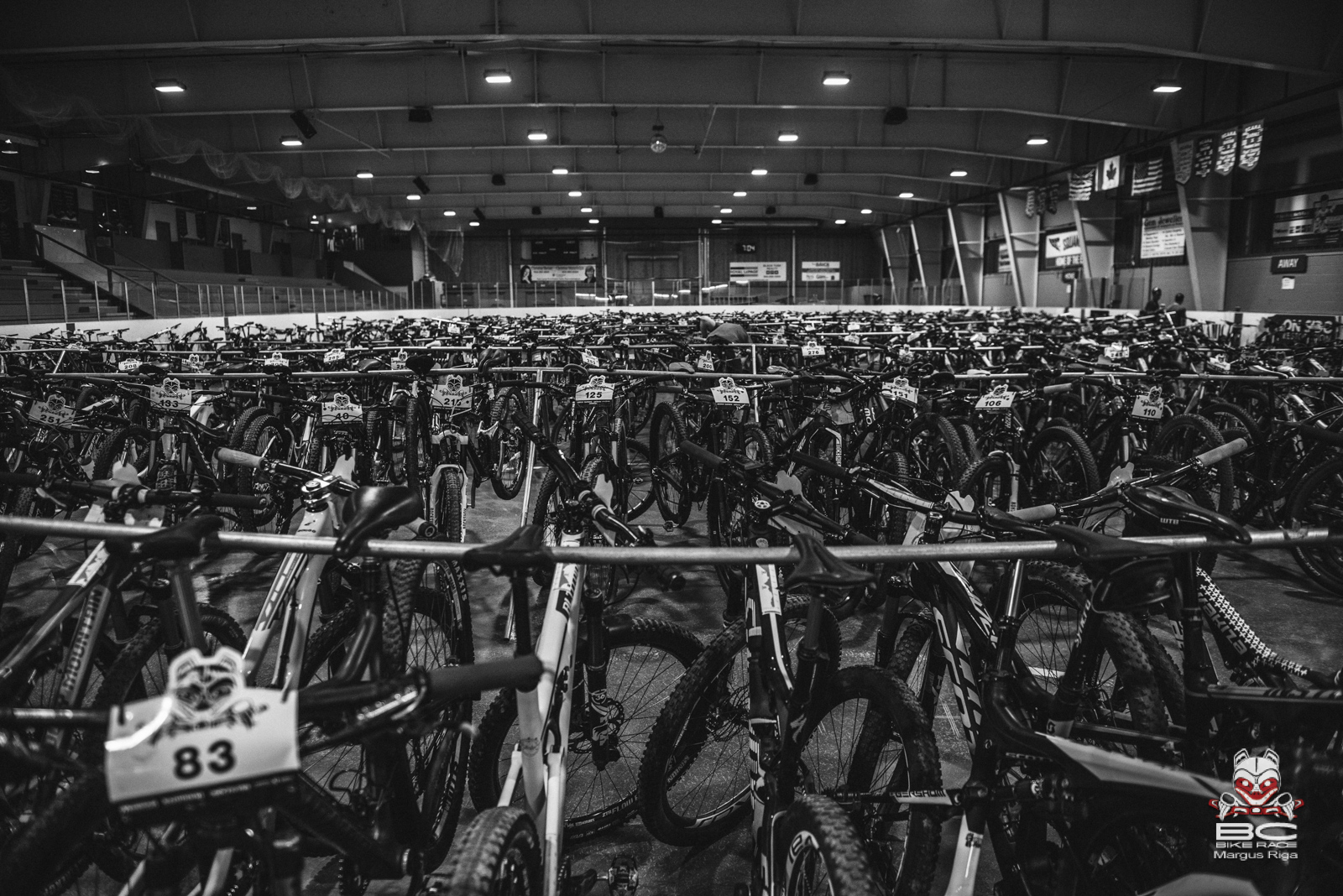 Bikes waiting for the day to begin. Photo: Margus Riga