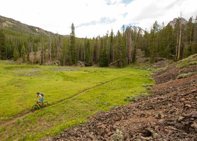 Idaho's Boulder-White Clouds....the site of our most recent major loss of trails. Photo by Leslie Kehmeier. Courtesy of IMBA