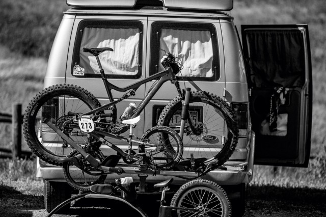 Van Rack Parking Lot Mountain Biking Wyoming