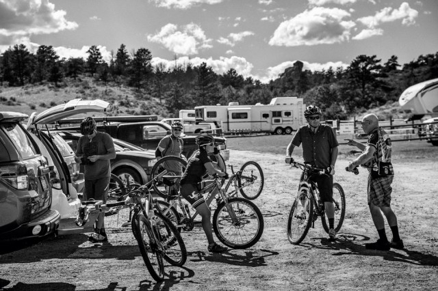 Mountain Biking Parking Lot Summer Wyoming