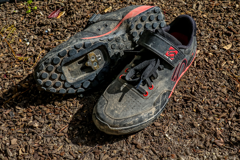Lace closures have made a comeback in clipless cycling shoes, and the Kestrel's Velcro strap helps secure the loose ends.