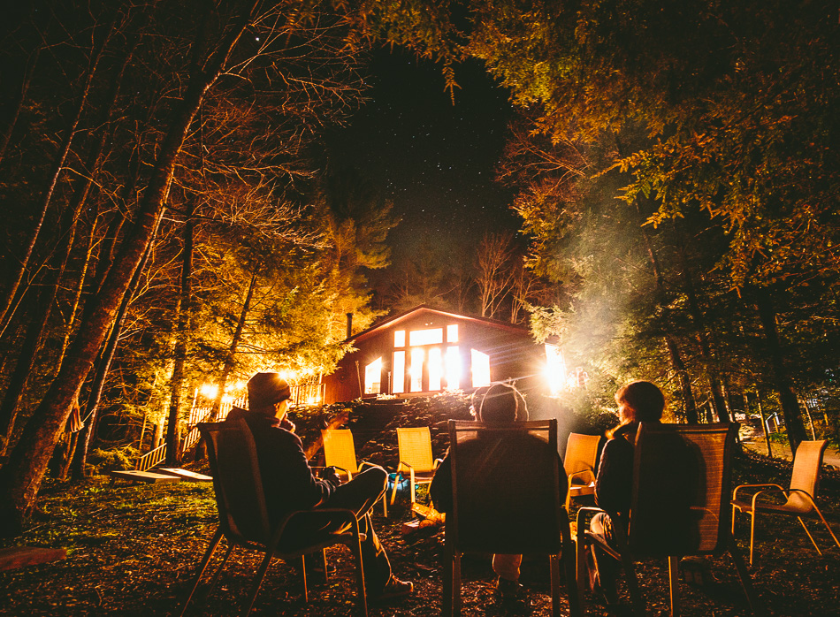Since Mulberry Gap is off the grid, the group put away all cell phones and relied on man's first source of entertainment: The camp fire.