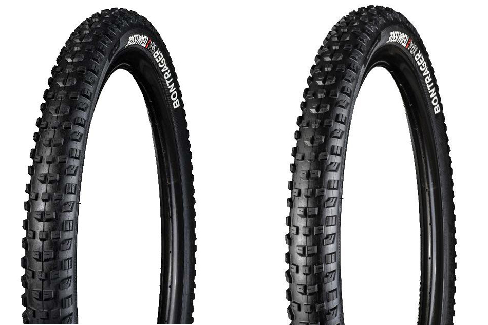 The SE4 (left) and XR4 feature the same tread, but the SE4 is reinforced both on the sidewalls and the center tread.