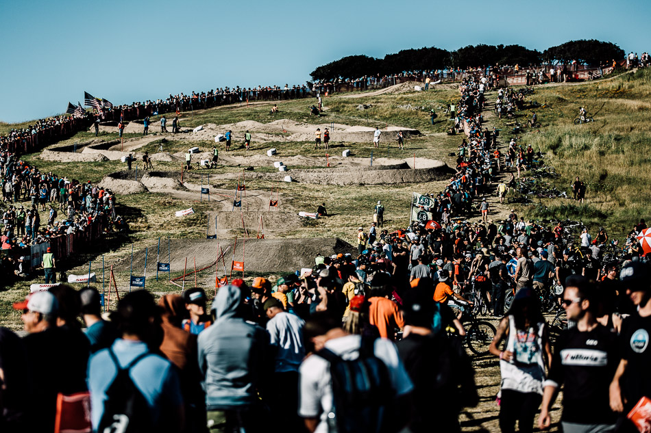 After a relatively rain-free Sea Otter, the dual-slalom course was fairly dusty and blown-out, adding to the challenges posed by so many youthful upstarts.