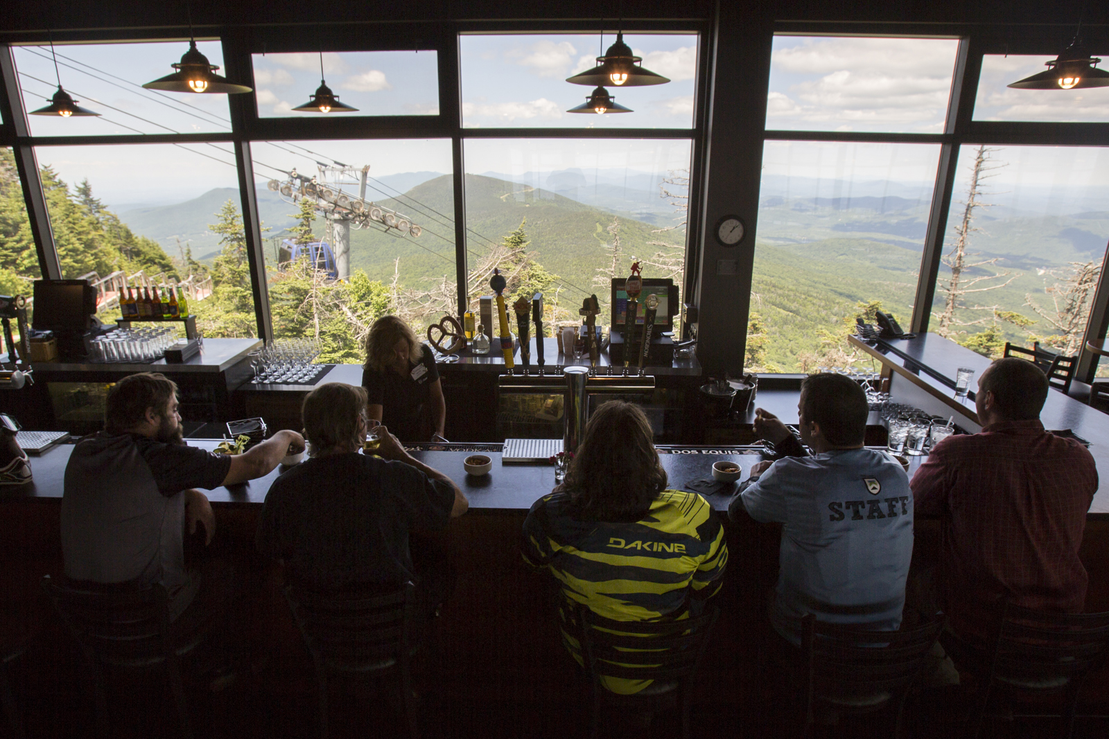 Killington's Peak Lodge serves up the best tap-side views in the state.