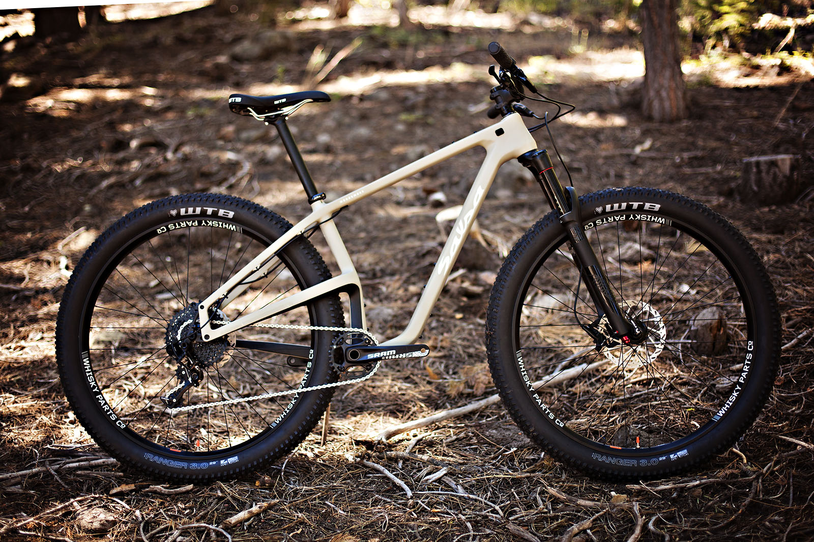 The $3000 GX1 build kit gets a 120-mil-travel RockShox Yari RC, SRAM GX drivetrain and Level brakes.