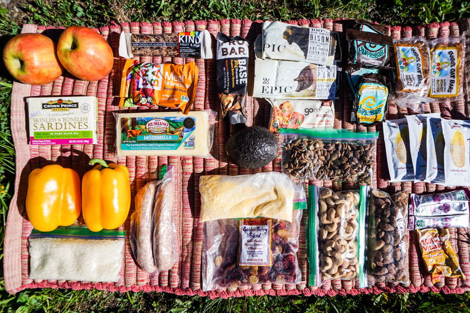 Food for a quick overnighter for two bikepackers. Photo: Kurt Refsnider