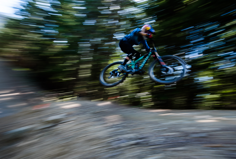 Jill Kintner killed two birds with one stone: Winning her fourth Crankworx Whistler Air DH race also put her almost out of reach for this year's Queen of Crankworx title.