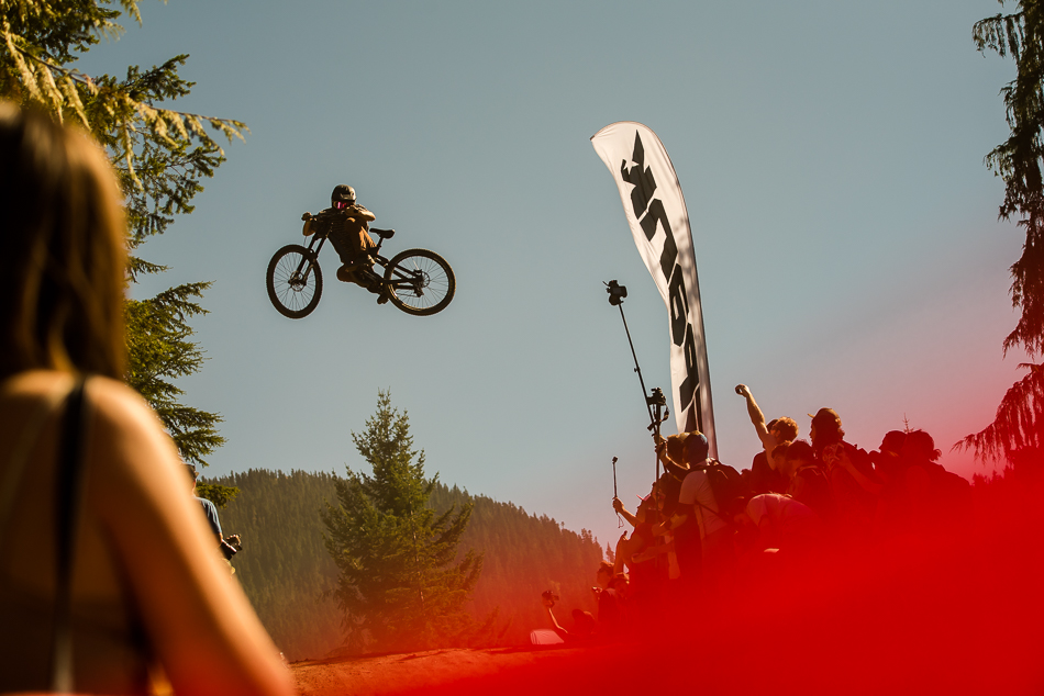 In his debut appearance at the Crankworx Whistler Whip-Off Worlds, Utah's Reed Boggs consistently soared high above the crowd, earning himself an honorable mention for amplitude. Photo: Bruno Long