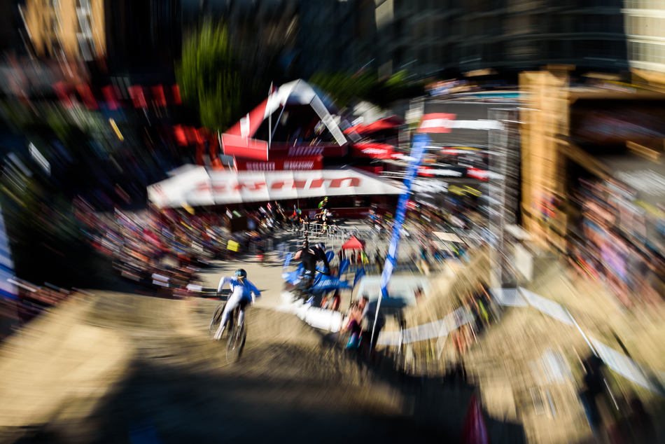 Ever watched a dual-slalom race on acid...man? Photo: Bruno Long