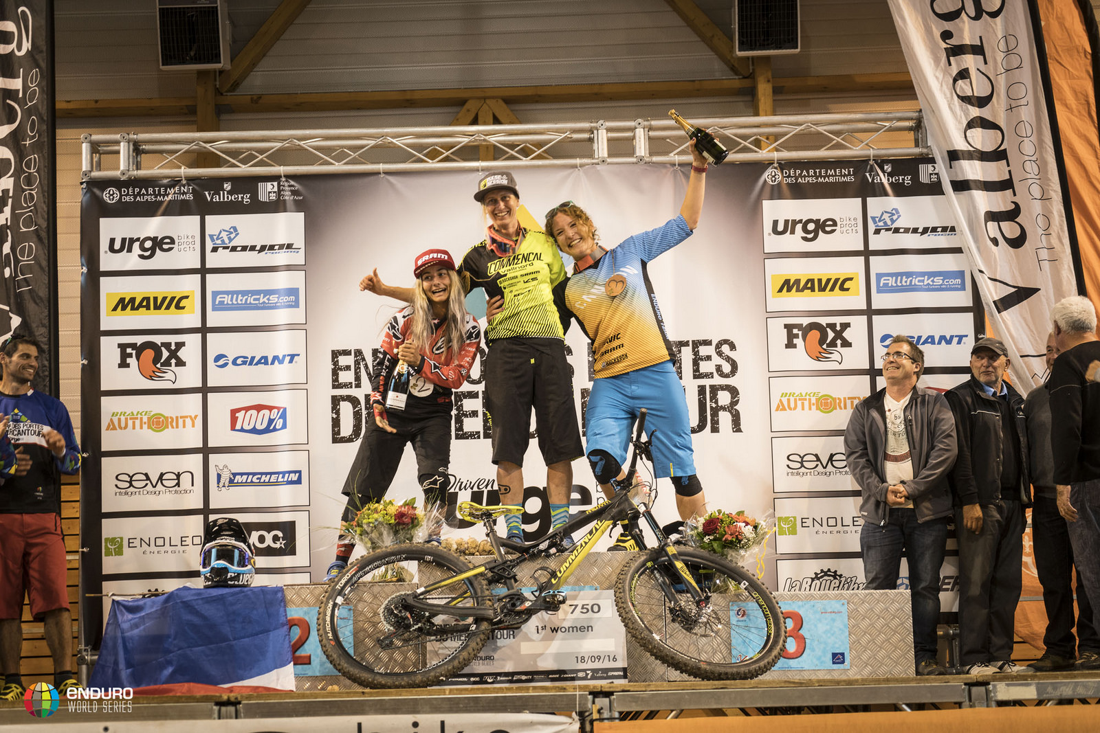 Winning women: Cecile Ravanel, Isabeau Courdurier and Ines Thoma.